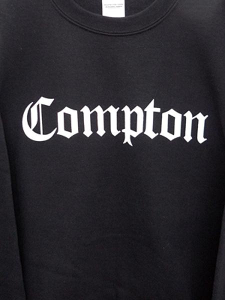 COMPTON  CREW NECK(BLACK)