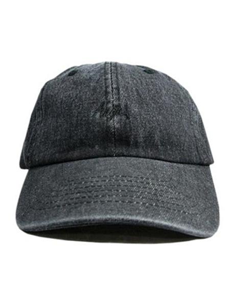Anga STANDARD LOGO 6PANEL CAP (BLACK DENM)